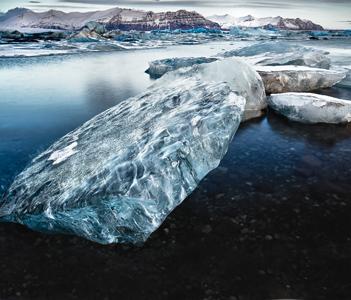 Ледниковая лагуна Йокульсарлон в Исландии